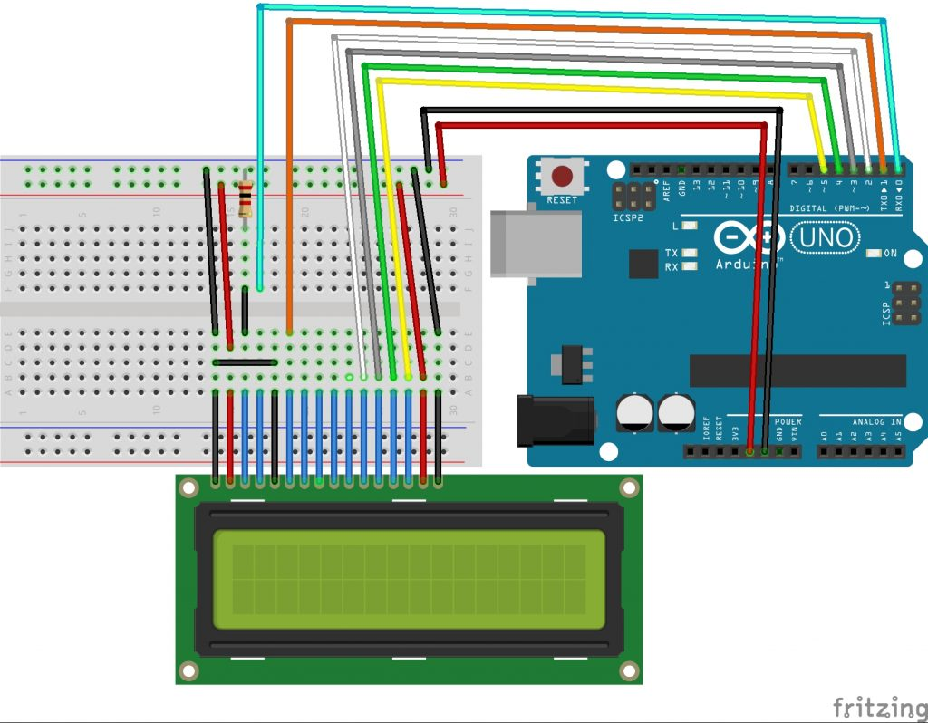 Arduino_1602_LCD_connection